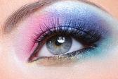 Fashion makeup of a female eye — Stock Photo