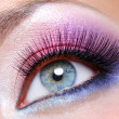 fashion makeup of a female eye — Stock Photo