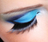 Fashion make-up with long false eyelashes — Stock Photo