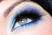 Glamour make-up with long false eyelashes — Stock Photo