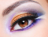 Female eye with fashion saturated make-up — Stock Photo
