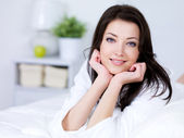 Morning of young woman — Stock Photo