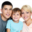 Happy young family with son of 6 years — Stock Photo #3906817