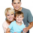 Happy young family with son of 6 years — Stock Photo #3906854