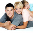 Stock Photo: Portrait of a happy young family