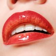 Sexy Red gloss lips — Stock Photo