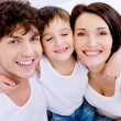 Happy cheerful mother and the father with son — Stock Photo
