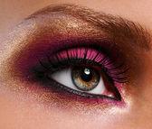 Golden-pink make-up — Stock Photo