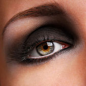 Fashion makeup of eye — Stock Photo
