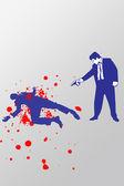 Een man is het doden van een andere man — Stockfoto