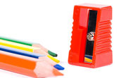 Red sharpener — Stock Photo