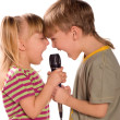 Singing child — Stock Photo