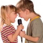 Singing child — Stock Photo