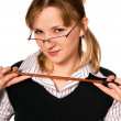 Stock Photo: Womin glasses