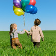 Children with balloons — Stock Photo #3285715