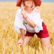 Woman with hat — Stock Photo #3474088