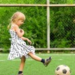 Stock Photo: Girl with soccer ball