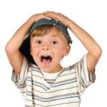 Portrait of emotionally kid — Stock Photo #3587469