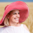 Woman with hat — Stock Photo #3663207