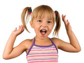 Funny little girl — Stock Photo