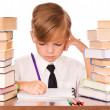 Boy writing - Stock Photo