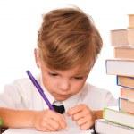 Boy writing — Stock Photo #3676355