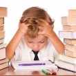 Boy studying - Stock Photo