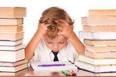 Boy studying — Stock Photo