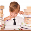 Stock Photo: Boy writing