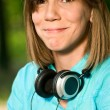 Teenage girl with headphones — Foto de stock #3819355