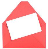 Envelope and white blank — Stock Photo