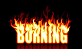 Burning text — Stock Photo