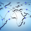 Flight routes - Stock Photo