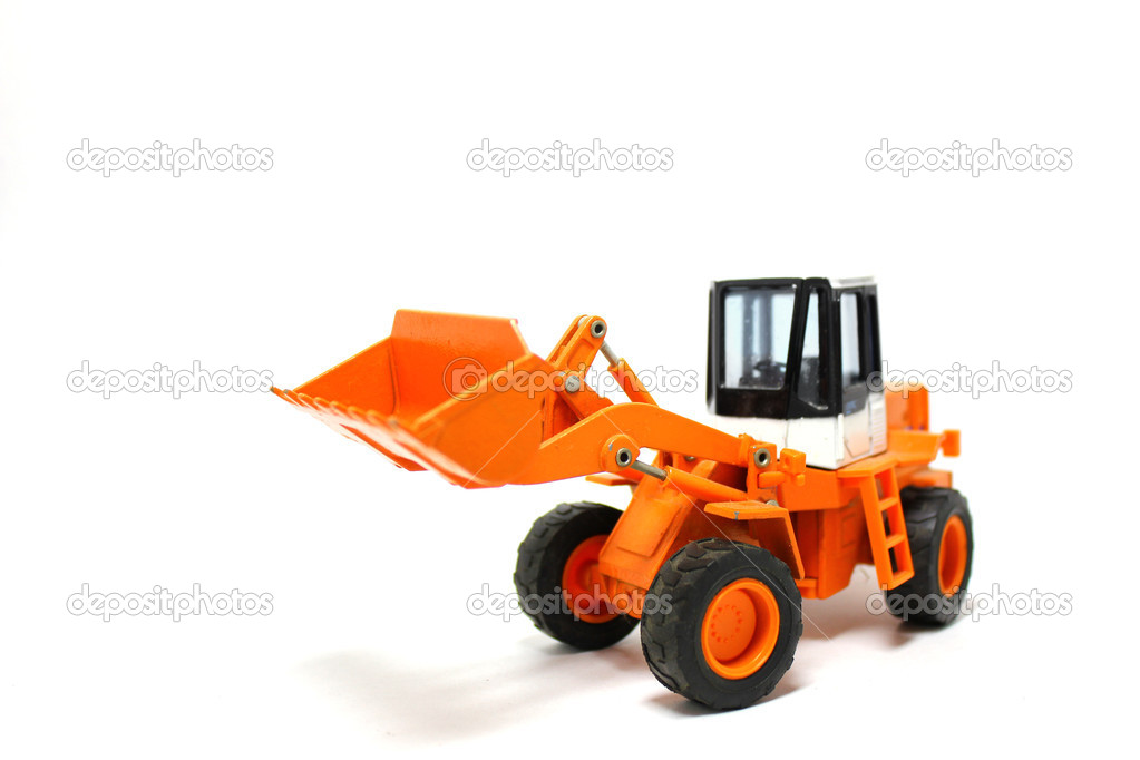 Tractor on white background — Stock Photo #3490070