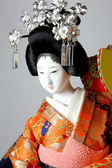 Geisha japanese doll — Stock Photo
