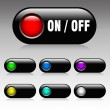 Stock Photo: On and Off button