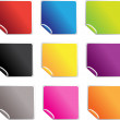 Square glossy stickers — Stock Vector