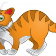Stock Vector: Orange fun cat