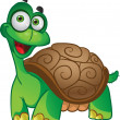 Smiling fun vector tortoise — Stock Vector