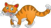оранжевый весело кошка — Cтоковый вектор