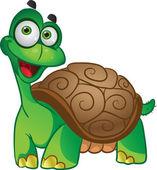 Smiling fun vector tortoise — Stock Vector