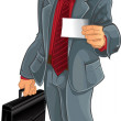 Businessman in gray suit. - Stock Vector