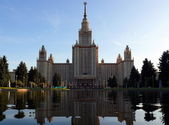 Moscow state university of Lomonosov — Stock Photo