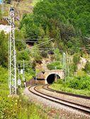 Railroad and Tunnel — Stock Photo