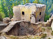Ruined interior of Likava Castle, Slovakia — Stock Photo