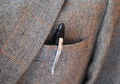 Pen in Jacket Pocket — Stock Photo