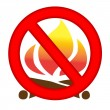 Fire Prevention Sign — Stock Photo