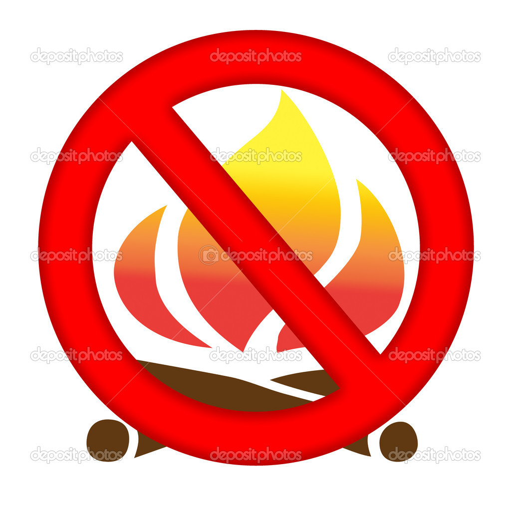 Fire prevention sign isolated over white background  Stock Photo #2688366
