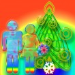 Colorful Christmas — Stock Photo