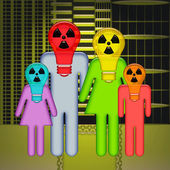 Radioactive Family — Stock Photo